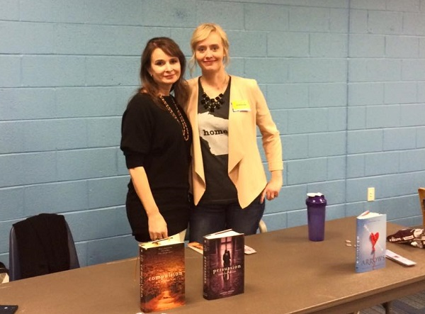 Author Martina Boone and I at Yorktown High School. First school visit ever/FIVE classes. I was one tired author by the end of the day.